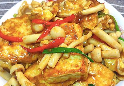 秋天最爱豆腐此做法,不放肉也很香,简单又营养,大人孩子都爱吃