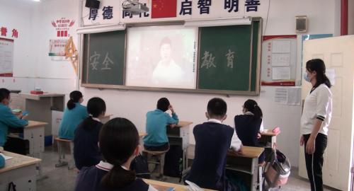 """江夏区初三年级返校复课""""开学第一课""""温暖而充满正能量"""