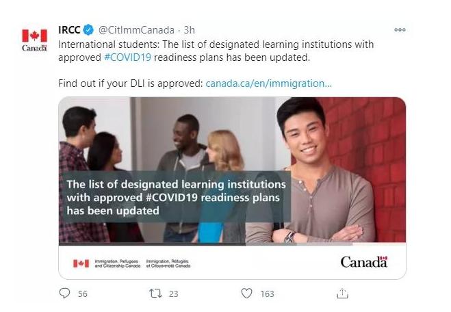 43%留学生计划返校!加拿大移民局扩大留学生入境资格
