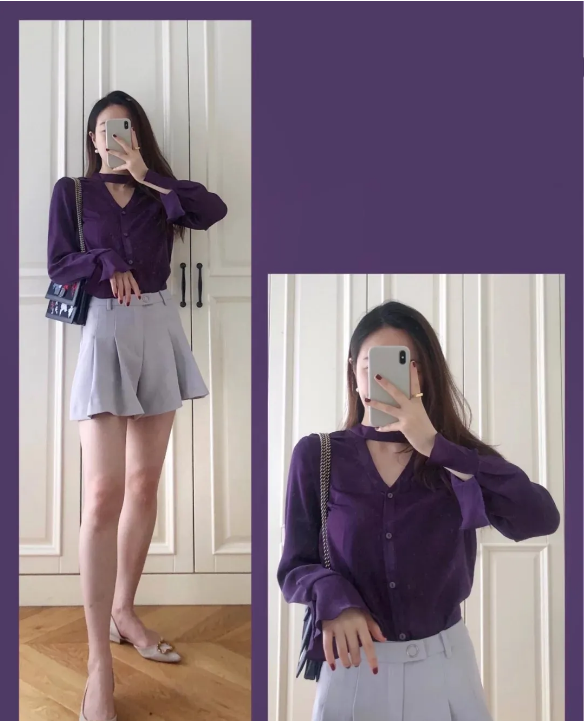 深紫色衬衣的搭配:2021最新的深紫色衬衣搭配,保证让人眼前一亮!