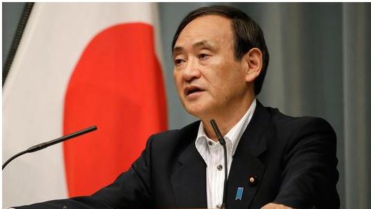 """日本首相菅义伟启程访问美国 网友喊话带上瓶""""能喝的""""核废水"""