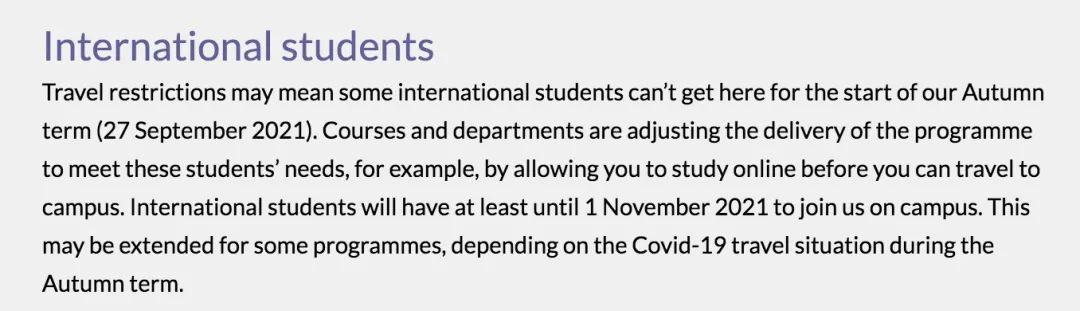 最新消息:英国大学明令要求留学生11月返校!留学生返英指日可待