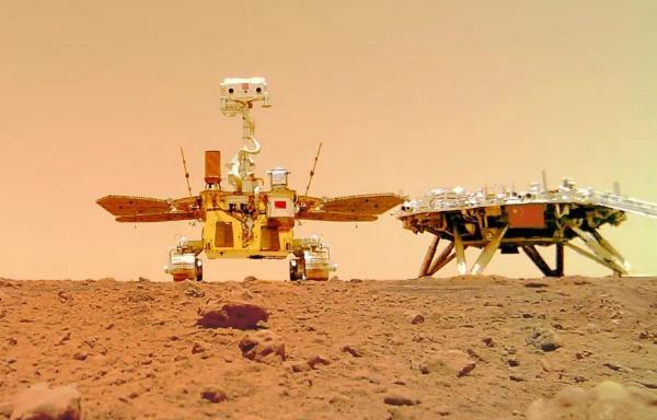 """祝融号火星车首批""""摄影作品""""公布 祝融号火星车首批火星照片"""