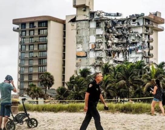 美国公寓倒塌已致3死99失联 美国公寓倒塌伤亡人数持续上升事故原因尚不明确