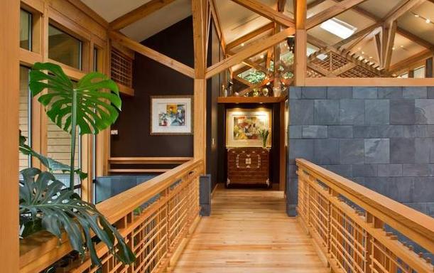 现代时尚空间融入自然   木质装饰融入空间,体现自然美感