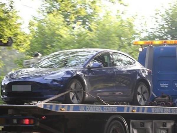 特斯拉自动驾驶又出事? 特斯拉自动驾驶车辆在英国学校停车场发生车祸