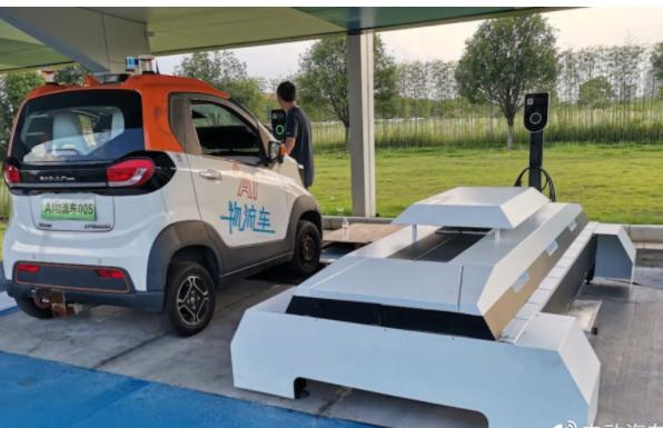上汽通用五菱发布智能微型换电站 占地面积仅为2个停车位大小