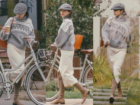 今秋毛衣尽量不要搭配牛仔裤!学学明星这样搭,优雅又高级