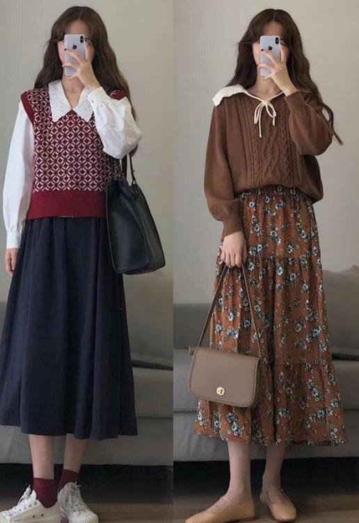 """甜美风造型怎么穿?试试""""小衫+连衣裙"""",甜美减龄两不误?"""